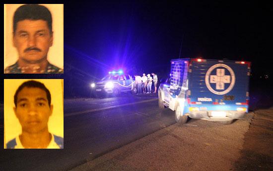Noberto (de bigode) morava em Pé de Serra, enquanto Fredes residia em Vila de Fátima, cerca de 10 km do local do acidente.