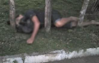 Ferida, a vítima teria corrido, mas caiu morto em uma cerca de arame.