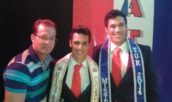 Márcio Bary, Nildo Filho e o primeiro colocado Leandro Gonçalves.