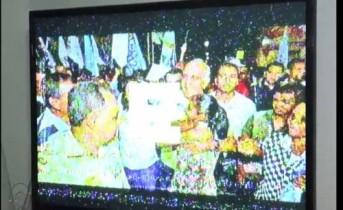 imagem congelada do candidato a governador Paulo Souto (DEM)