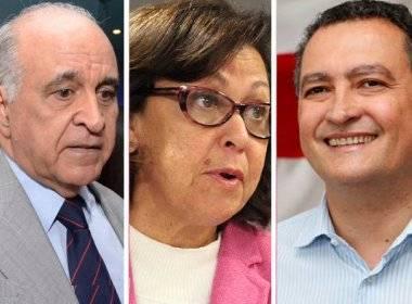 Paulo Souto (DEM), Rui Costa (PT), Lídice da Mata (PSB)