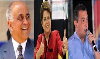 Dilma, Rui e Paulo Souto nesta quinta-feira em Feira de Santana