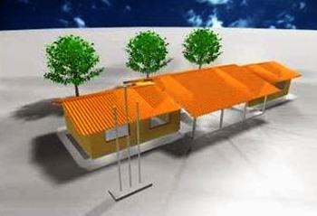 Foto ilustrativa do modelo das novas escolas.