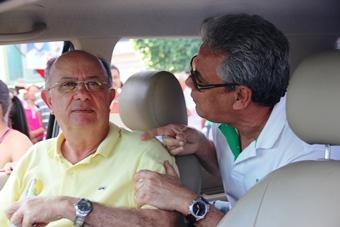 Ex-prefeito de Retirolândia Bequinho já previa a situação de desconforto e conversou com Zé Ronaldo.
