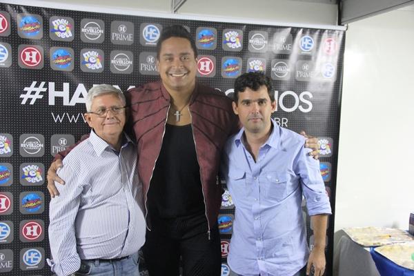 Jorge Andrade e Jorginho um dos coordenadores da festa ao lado de Xanddy.