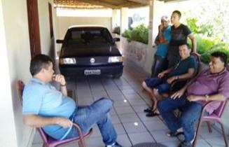 Em Quijingue Alex esteve na residencia do ex-prefeito Reinaldo.