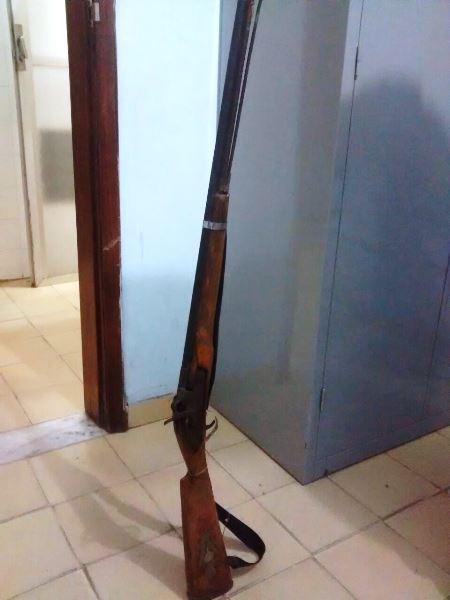 Arma usada na tentativa de homicídio.