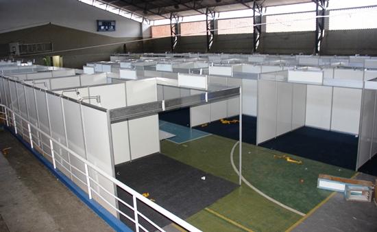 O espaço reservado para atividades esportivas servirá três dias para realização de negócios.