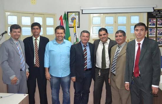 Dida ao lado de Dudinha e Kekel atual presidente.