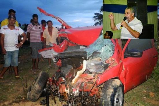 Acidente mata ex-vereador de João Dourado na Bahia