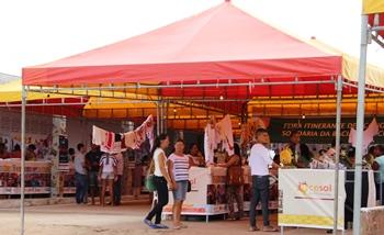 Os visitantes puderam conhecer uma grande variedade de produtos.