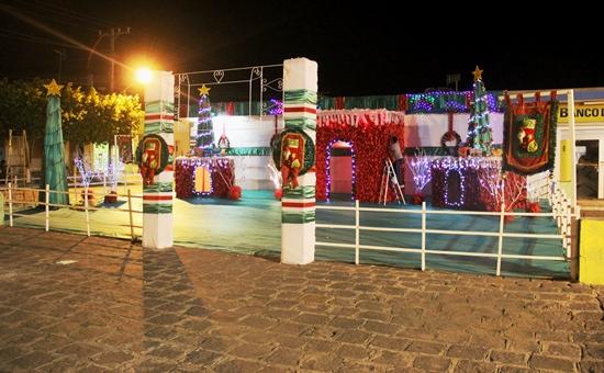 Ornamentação em frente a Prefeitura de Nova Fátima