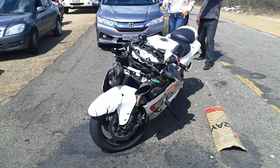 Alcione pilotava esta moto e seguia sentido Riachão do Jacuípe