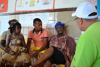 Secretário Municipal de Comunicação e Relações Institucionais Valdemí de Assis (de verde)lembrou quando convidou Cesar(no destaque) para conhecer Coqueiro em Mirangaba.