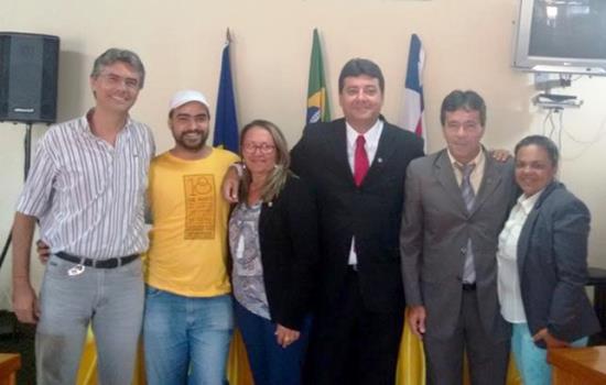 Bando (vice-presidente do PT); Pedro Américo (Presidente); Maria do Socorro (presidenta eleita); Ilário Carneiro (1º Sec.); Genival (PT); Givalda (2ª Sec.); ausência do vereador Hebert (Vice na nova Mesa Diretora) por está com o pai enfermo.