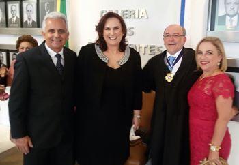Silvio Roberto, Eliana, Aroldo e sua irmã Zélia, esposa de Silvio.