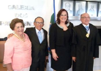 Nenenzinho ao lado da esposa Mariá, Aroldo e esposa Eliana.