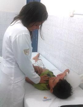 Médica Camila Sampaio atendeu cerca de 20 crianças somente neste dia 1º