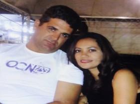 Casal Paulo e Angélica em momento de felicidade.