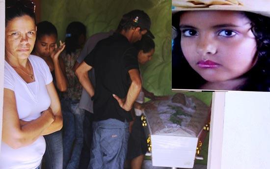 Letícia foi sepultada na tarde deste domingo, tanto o corpo dela quanto o de Angélica foram velados na mesma rua do povoado, Rua São Domingos.