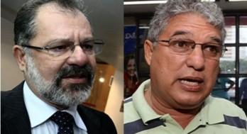 O petista Rosemberg Pinto (D) quer impedir quinto mandato consecutivo de presidência da ALBA  de Marcelo Nilo(PDT)