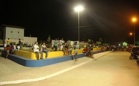 Inicio da Praça para quem chega por Nova Palmares