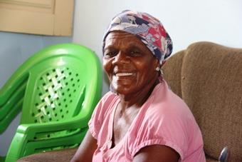Dona Eline disse que a alegria vai ser maior quando vê cheia.