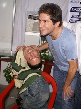 Em 2010 Daniel esteve em Monte Santo e recebeu Claudio em seu camarim/Foto: Raimundo Mascarenhas