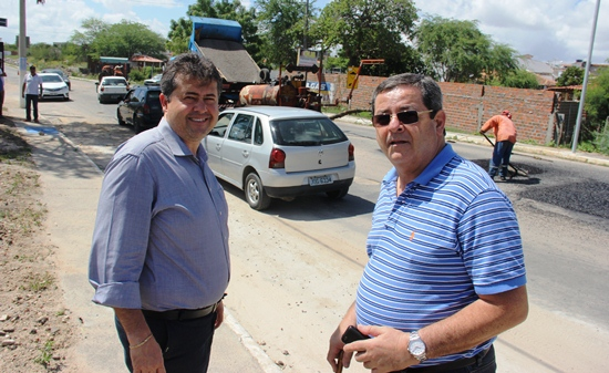 Alex da Piatã (E) e Jorge Novis