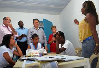 Alex em visita ao Instituto Guanabara.