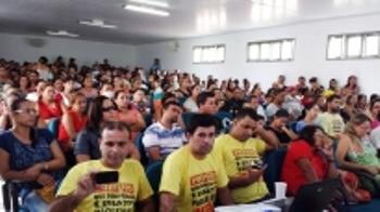 Paralisação dos professores em Monte Santo.