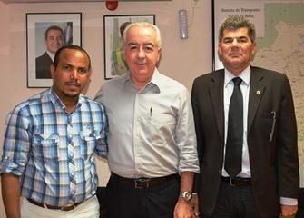 Prefeito de Teofilândia foi reforçar o pedido para asfaltar seu município até Barrocas.