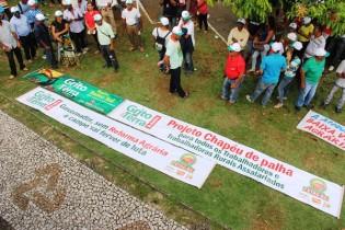 Ato aconteceu simultâneo ao Grito da Terra Brasil, em Brasilia.