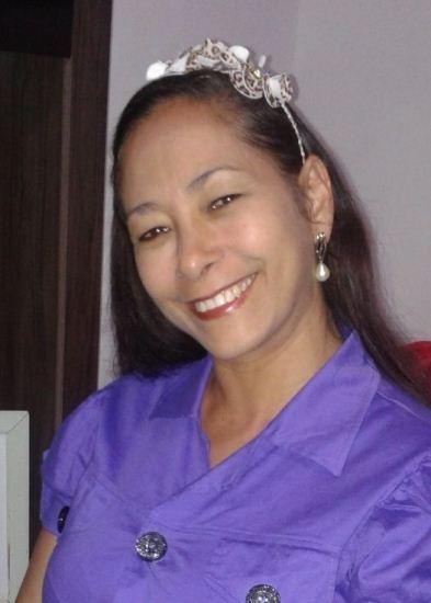 """Mamãe Valmirete Costa da Silva, 52 anos, residente em Coité, recebe as felicitações pelos dias das mães de seu filho Edson Junior; """" Parabéns mãe por esta data tão especial. Te amo""""."""