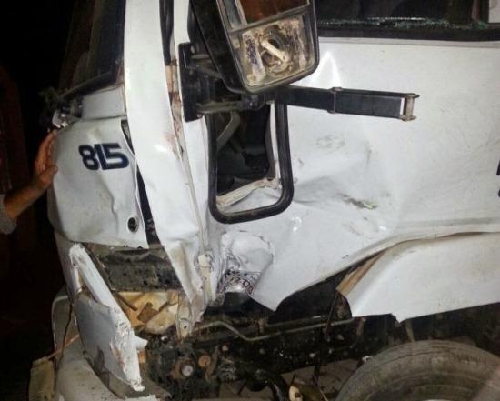 caminhão acidente