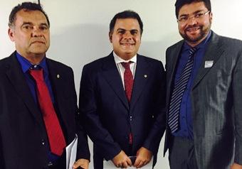 Jorge Martins, João Bacelar e Márcio Oliveira em Brasília.