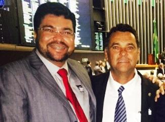 Márcio e Jorge em viajem a Brasília.