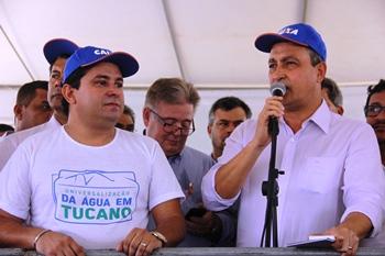Rui Costa dentro de seu discurso disse que quer famílias vivendo com dignidade e não vai permitir pessoas baderneiras na comunidade.