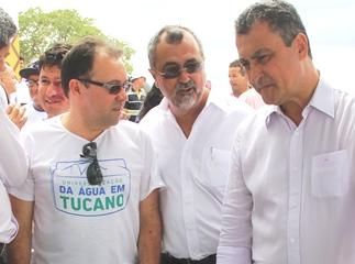 Wilson Dias, prefeito de Valente Ismael Ferreira e Rui Costa.