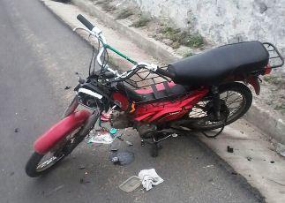 Moto que provocou o acidente