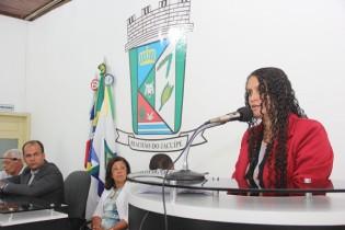 Secretaria Ana Rita Rios, na Câmara Municipal - foto: arquivo CN