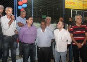 Vereador Danda representante da localidade comemorou a maior obra dos últimos anos.