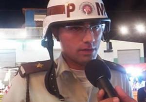 O oficial foi levado para o hospital de Jaguarari, mas não resistiu.