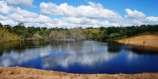 Barragem de Casa Nova de lage cheia devido as chuvas dos ultimos meses.