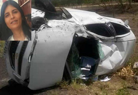 Professora morre em acidente