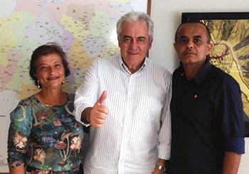 Presidente e vice municipal com Otto líder estadual da legenda.