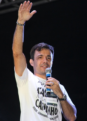 Pastor César conhecedor da força evangélica disse que sonhava participar do evento.
