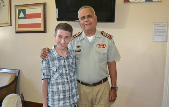 Coronel Anselmo disse que será uma grande honra ter Daniel no quadro militar no futuro.