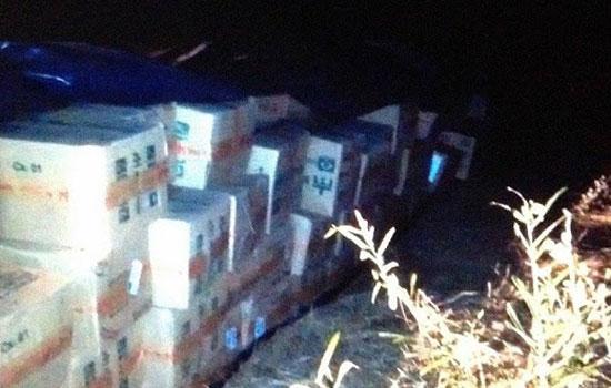 Situação da carga encontrada em Pintadas - Foto; VR14