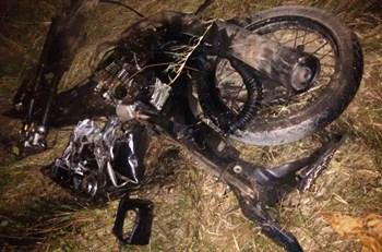 Moto pilotada pela vítima.
